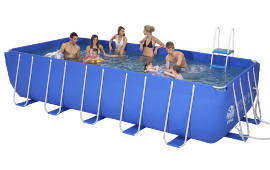 Metal Frame Pool 13.5 x 6.5 Feet